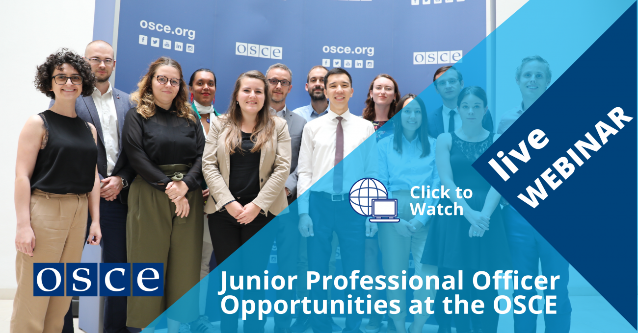 JPOs take part in professional experiences both in the Secretariat in Vienna as well as in one of our Field Operations.
