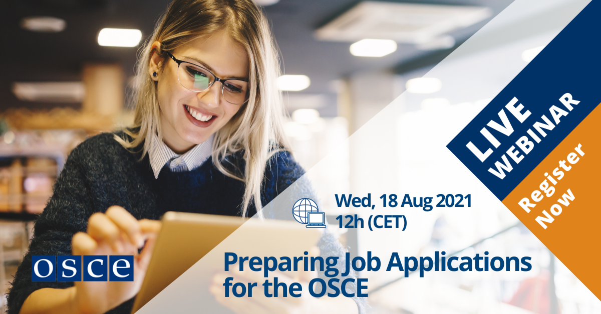Preparing Job Applications for the OSCE - August 2021